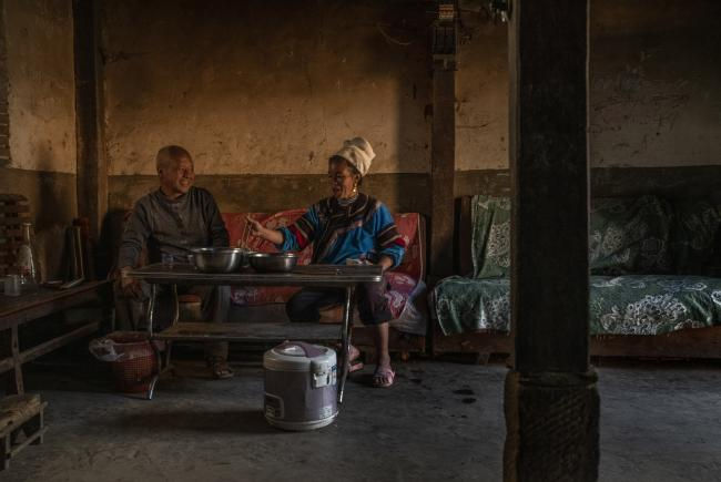 The patriarch and tea grower, Mr. Chen, together with his wife (Honghe)