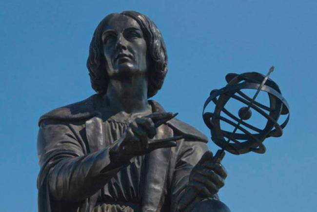 La statue de Copernic © Espace pour la vie (Marc Jobin)