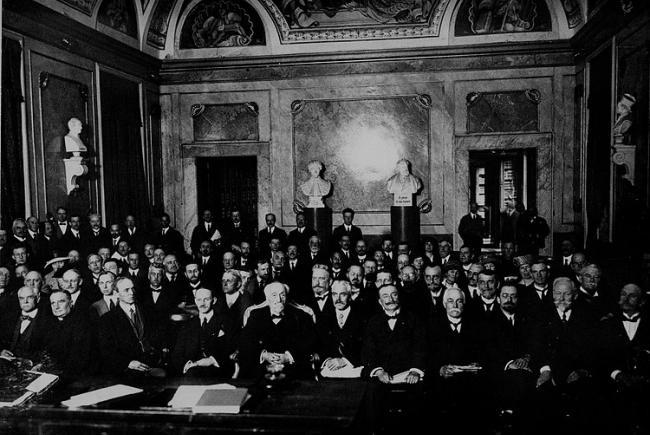 Première assemblée générale de l'UAI à Rome, Italie, en 1922