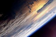 The Setting of the Sun Over the Pacific Ocean as seen from the International Space Station.