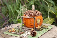 Decorated pumpkin
