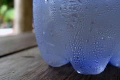 Condensation sur bouteille d'eau - License GNU Free Documentation Licence