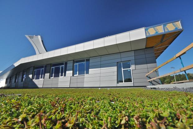 Green roof of the Rio Tinto Alcan Planetarium