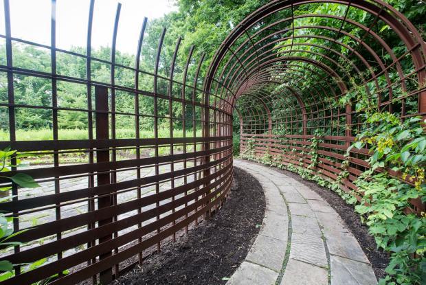 Maison-longue - Zone de l'horticulture - Jardin des Premières-Nations