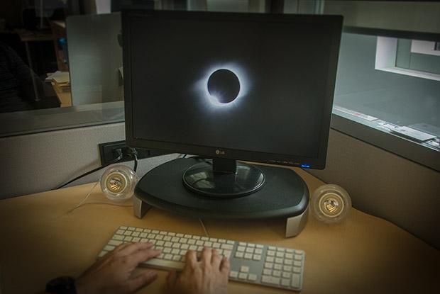 L'éclipse sur le Web