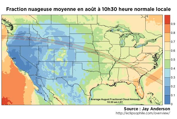 Fraction nuageuse moyenne août 10h30