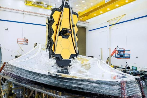The James Webb Space Telescope in its final testing phase.