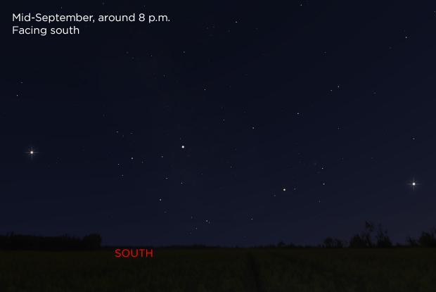 Jupiter, Saturn, and Mars 20180915