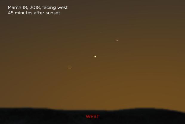 The Moon, Venus, and Mercury 20180318
