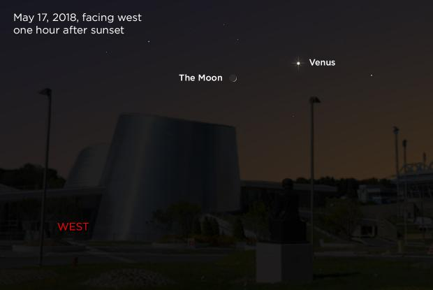 The Moon and Venus 20180517 (annotated)