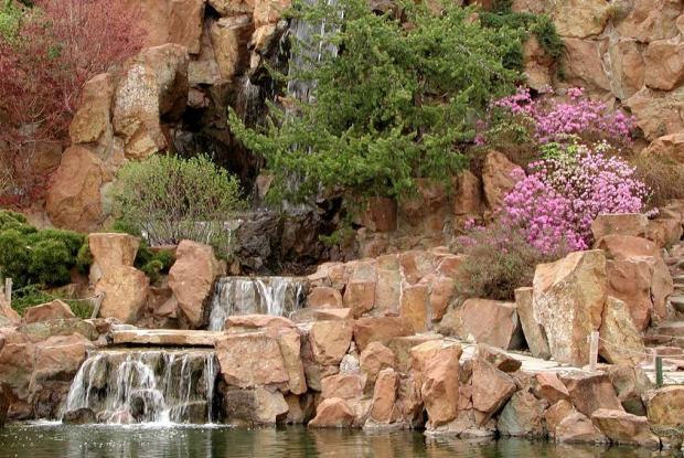 Trois éléments d'un jardin chinois traditionnel