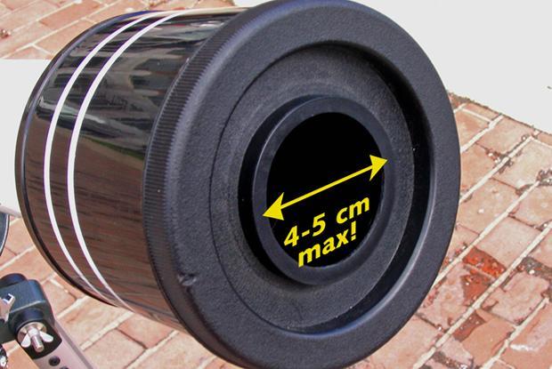 Projection refractor diaphragm