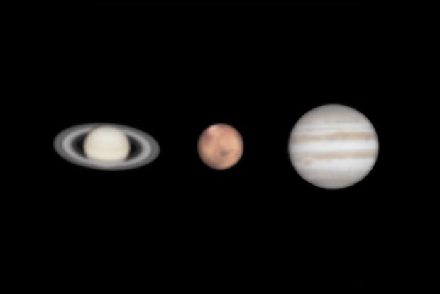 Saturn, Mars, Jupiter - Comparison