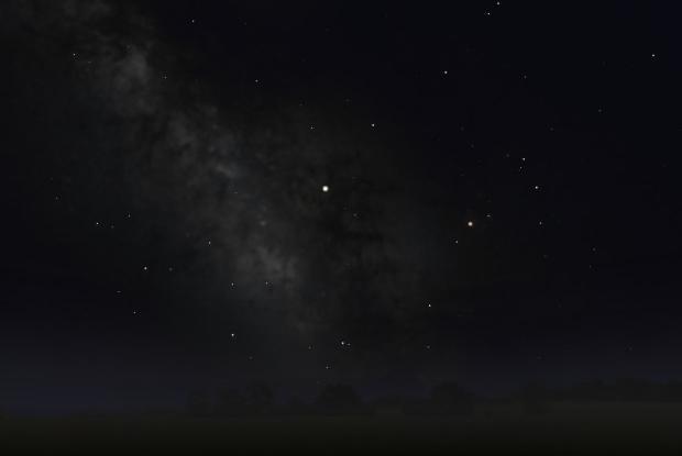 Saturn in the Milky Way 2017