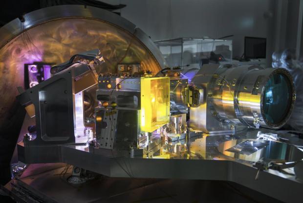 Le spectromètre SPIRou en test avant d'être installé au télescope Canada-France-Hawaii en 2018.
