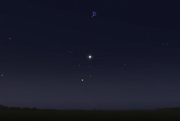 Vénus entre les Hyades et les Pléiades 20170710