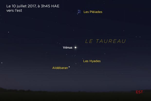 Vénus entre les Hyades et les Pléiades 20170710 (annoté)