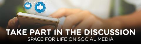 Space for Life on social media - Mobile