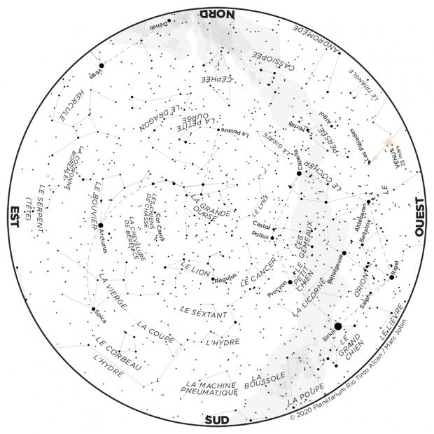 Ciel du mois - carte mars 2020