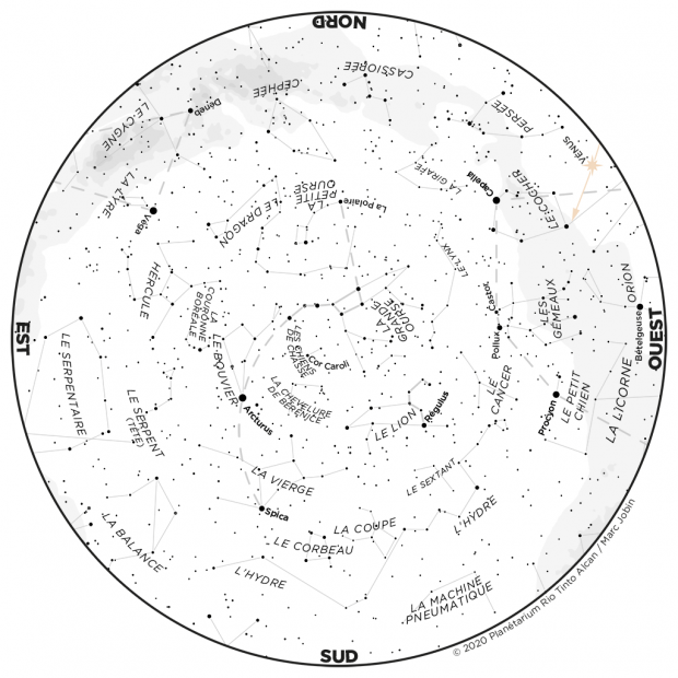 Ciel du mois - carte avril 2020
