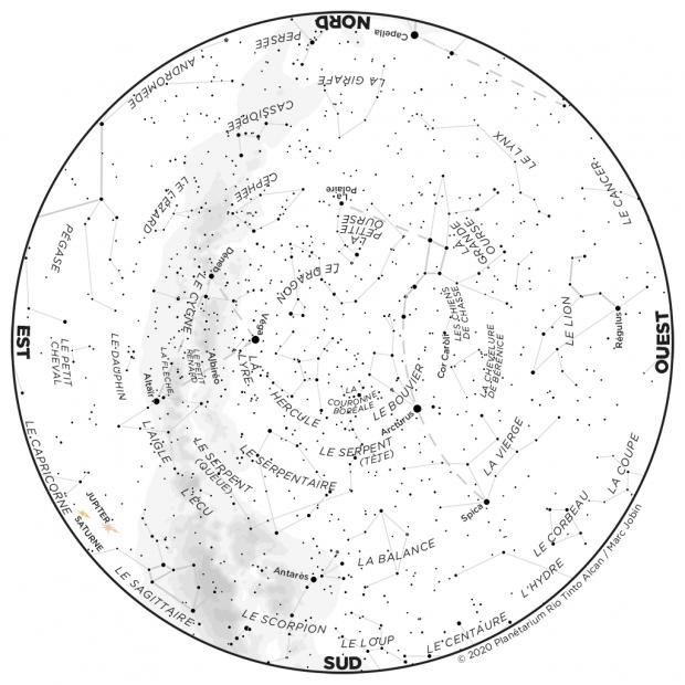 Ciel du mois - carte juin 2020