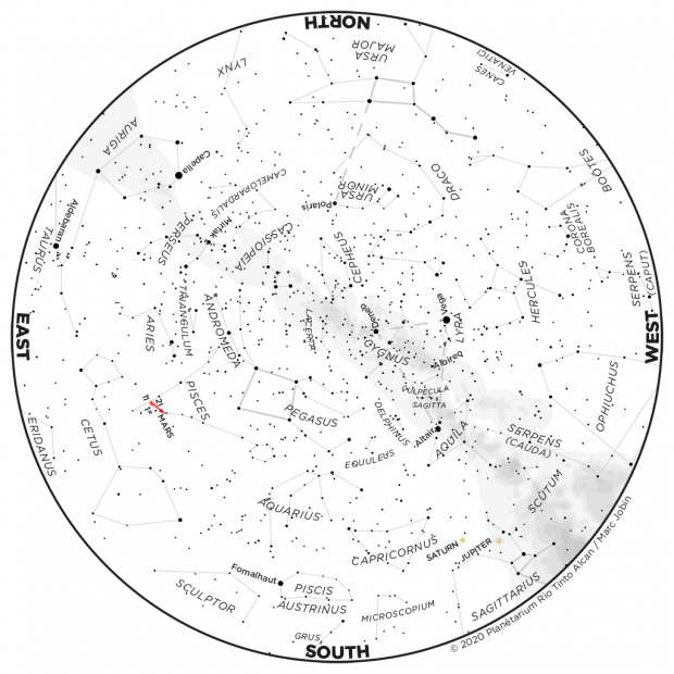 Monthly Sky map - September 2020