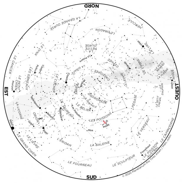 Ciel du mois - carte novembre 2020