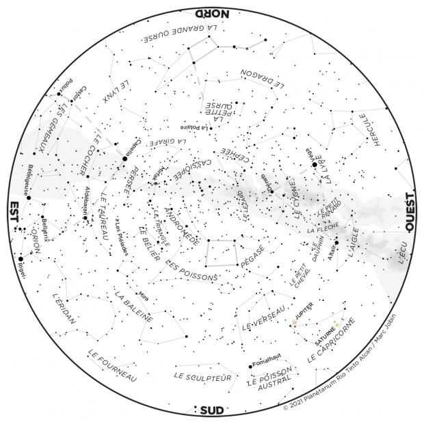 Ciel du mois - carte octobre 2021