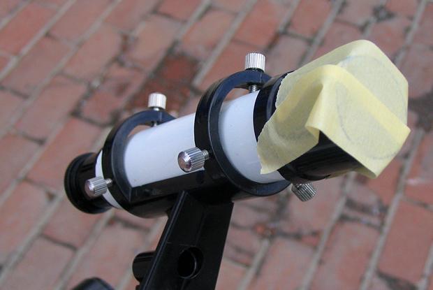 Covered finder scope