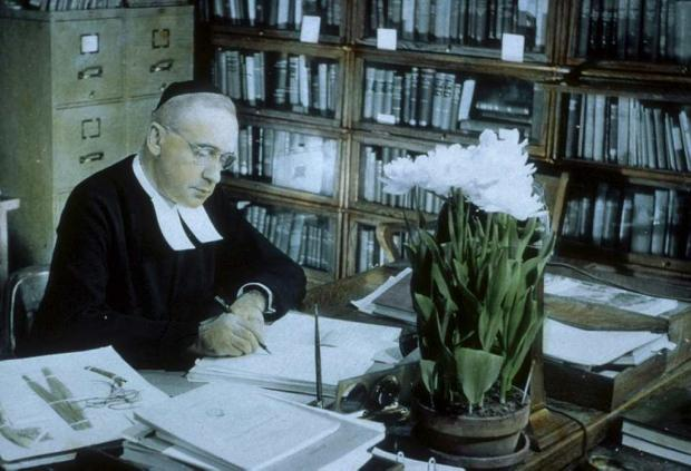 Brother Marie-Victorin in his office.
