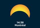 August 21, 2017 Solar Eclipse - Maximum in Montreal