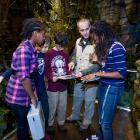 Quatre élèves écoutent les consignes pour l'Expédition en Amazonie.