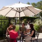 Terrasse du restaurant au Jardin botanique